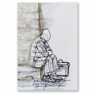 L'homme à la sacoche